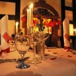 Kerzenschein und Dinner
